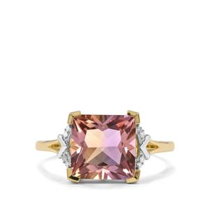 Anahi Ametrine & Diamond 10K Gold Ring ATGW 3.25cts