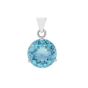 Sky Blue Topaz Pendant in Sterling Silver 15cts