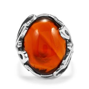 12.91ct American Fire Opal Sterling Silver Ring