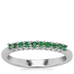 Luhlaza Emerald Ring in Sterling Silver 0.22cts