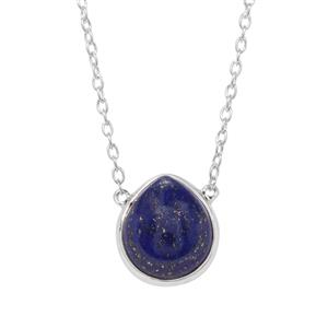 Sar-i-Sang Lapis Lazuli Necklace in Sterling Silver 7.49cts