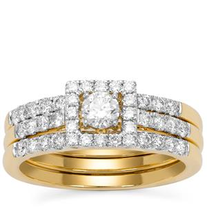 Diamond Ring in 18K Gold 1.06cts