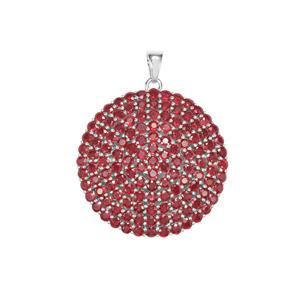 Malagasy Ruby Pendant in Sterling Silver 21.64cts (F)