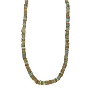 116ct Labradorite Sterling Silver Graduated Bead Necklace