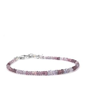 Mahenge Purple Spinel Bead Bracelet in Sterling Silver 14.50cts