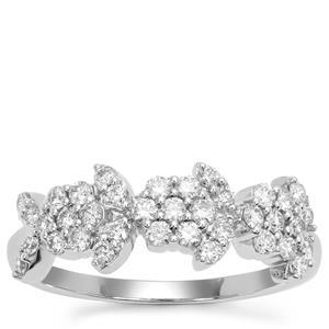 Argyle Diamond Ring in 9K White Gold 0.51ct