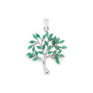 Carnaiba Brazilian Emerald Pendant in Sterling Silver 2.70cts