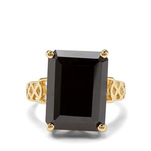 15ct Black Spinel Two Tone Midas Ring