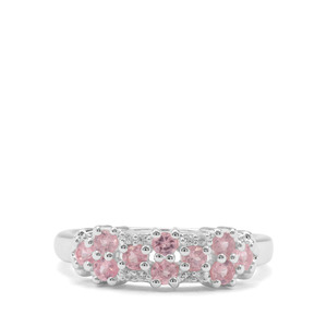 Mozambique Pink Spinel & White Zircon Sterling Silver Ring ATGW 0.70cts