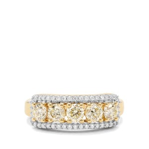 1.18ct Yellow & White Diamond 18K Gold Tomas Rae Ring