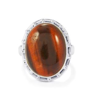 16ct Red Tiger's Eye Sterling Silver Aryonna Ring