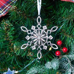 Set of 3 Metal Snowflake Tree Decorations