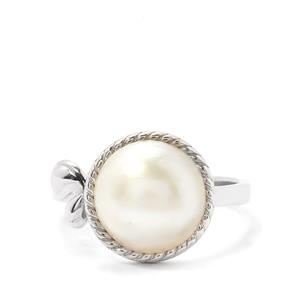 Indonesian Mabe Freshwater Cultured Pearl (11mm) Sterling Silver Ring