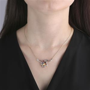 Harlequin Necklace in 9K Gold 2.00cts