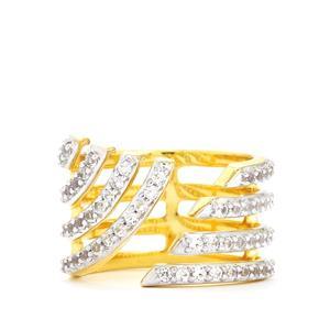 1.05ct White Topaz Gold Vermeil Ring