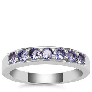 Tanzanite Ring in Sterling Silver 0.67ct