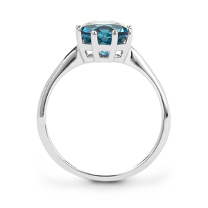 Ceylonese London Blue Topaz Ring in Sterling Silver 2.40cts