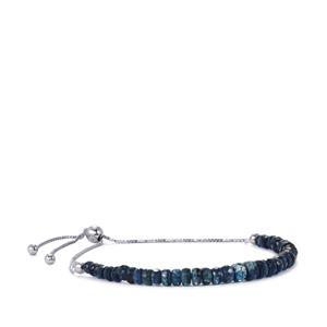 Daha Kyanite Graduated Slider Bead Bracelet in Sterling Silver 21cts