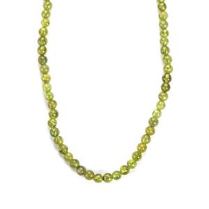 108.50ct Changbai Peridot Sterling Silver Necklace