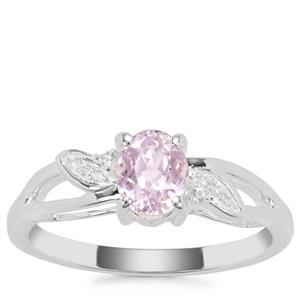 Nuristan Kunzite Ring with White Zircon in Sterling Silver 1.04cts
