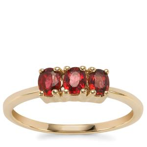 Burmese Red Spinel Ring in 10K Gold 0.62cts