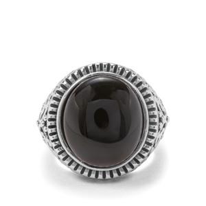 10.48ct Black Onyx Pewter Ring