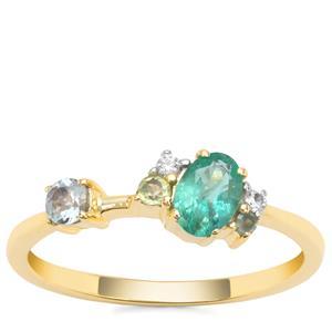 Kaleidoscope Gemstone Ring in 9K Gold 0.57ct