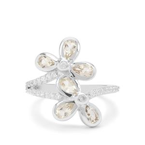 Serenite Ring with White Zircon in Sterling Silver 1.60cts
