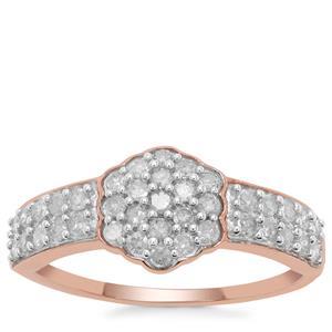 Diamond Ring in 9K Rose Gold 0.51ct