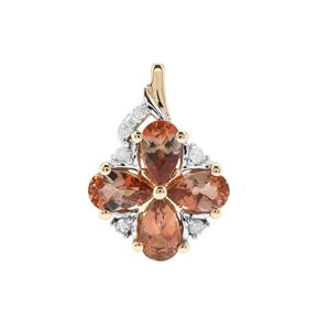 Sopa Andalusite Pendant with Diamond in 9K Gold 0.84ct