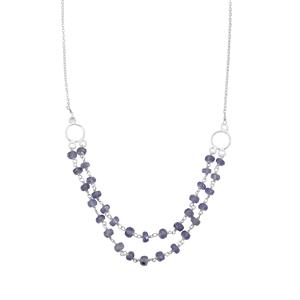19.60ct Tanzanite Sterling Silver Bead Necklace