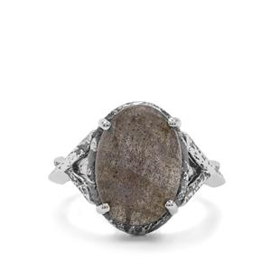 6ct Labradorite Sterling Silver Ring