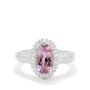 Mawi Kunzite Ring with White Zircon in Sterling Silver 3.30cts