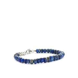 Lapis Lazuli Bracelet in Sterling Silver 80.13cts