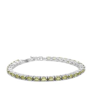 Changbai Peridot Bracelet in Sterling Silver 7.32cts