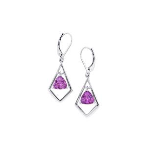 Moroccan Amethyst Earrings in Platinum Plated Sterling Silver 3.11cts