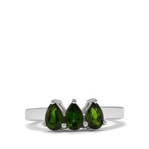 1.44ct Chrome Diopside Sterling Silver Ring