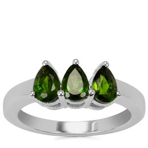Chrome Diopside Ring in Sterling Silver 1.44cts