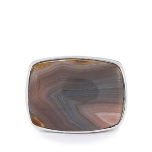 13.50ct Botswana Agate Sterling Silver Ring