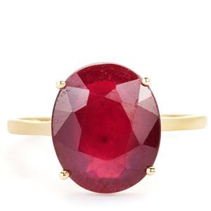 7.04ct Thai Ruby 9K Gold Ring