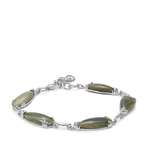 22.14ct Imperial Chalcedony Sterling Silver Bracelet
