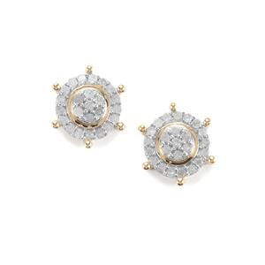 Diamond Earrings in 10K Gold 0.51ct