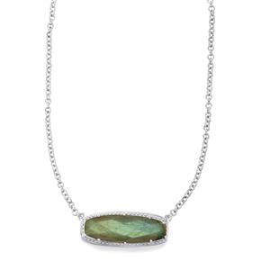 13.42ct Labradorite Sterling Silver Necklace