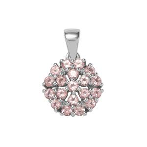 Kaffe Tourmaline Pendant in Sterling Silver 1.44cts