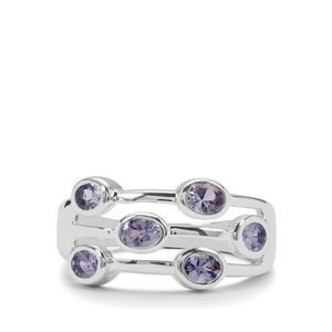 1.08ct Tanzanite Sterling Silver Ring