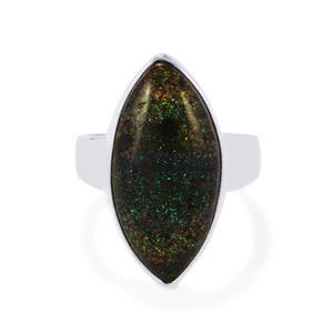 9ct Andamooka Opal Sterling Silver Aryonna Ring
