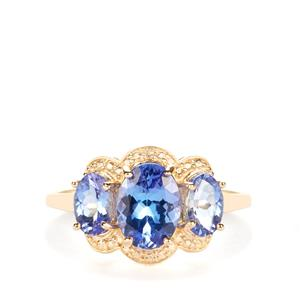 AA Tanzanite Ring in 9K Gold 2.27cts