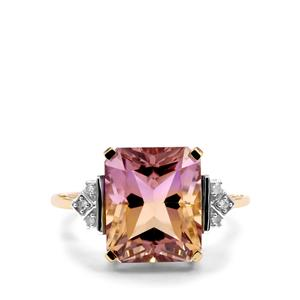 Anahi Ametrine Ring with Diamond in 9K Gold 5.61cts