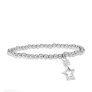 Itinga Petalite Star Charm Bracelet in Sterling Silver 0.23ct