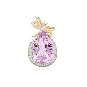 Kolum Kunzite Pendant with Diamond in 18K Gold 12.82cts